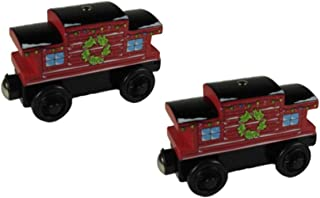 Learning Curve Two Pack Holiday Caboose - Thomas Wooden Railway Tank Engine Train Loose