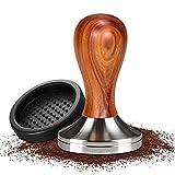 Prensador de café,Café Tamper,Tamper de Acero Inoxidable,Prensador de café 51 MM,Prensador Cafe con Base de Silicona,Prensador Cafe para prensar café Espresso