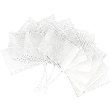 Swiftswan 100 St/ücke Maisfaser Leere Kordelzug Teebeutel Kr/äuterteebeutel Lose Teebeutel