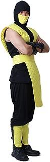 Men's Shotokan Ninja Yellow Fighter Halloween Cosplay Costume