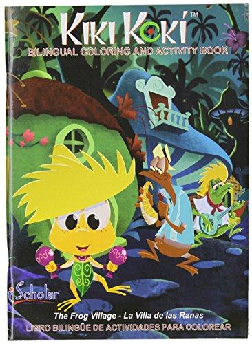 iScholar Kiki Koki Bi-Lingual Coloring and Activity Book, 96 Sheets, Style May Vary (61096)