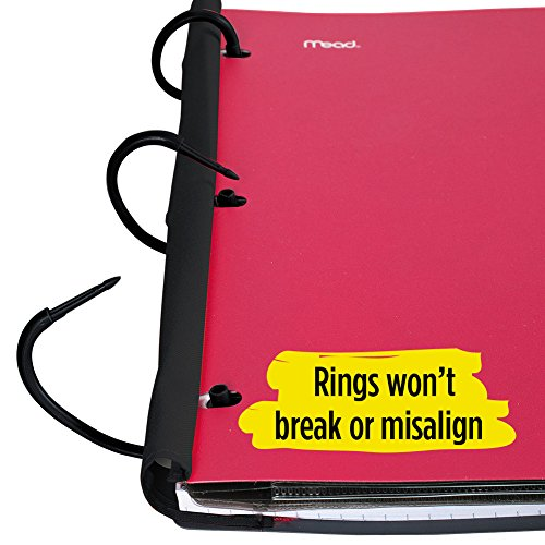 Five Star Flex Hybrid NoteBinder, 1 Inch Binder with Tabs, Notebook and 3 Ring Binder All-in-One, Red (72005) Photo #7