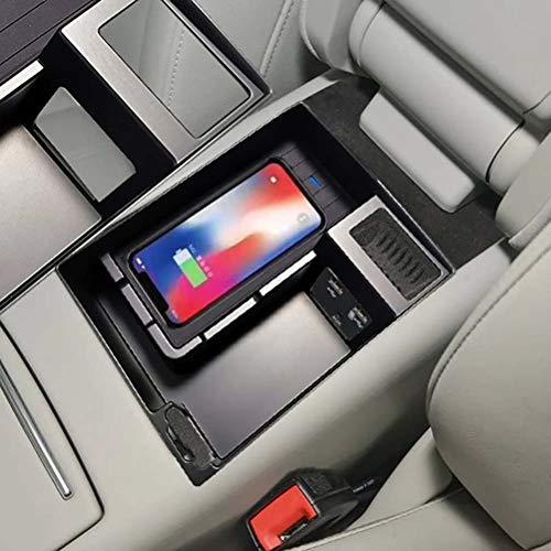 Cargador inalámbrico QI para coche de 15 w para Audi A6 C7 A7 2014-2017, tablero de carga rápida, reposabrazos, caja, soporte para teléfono