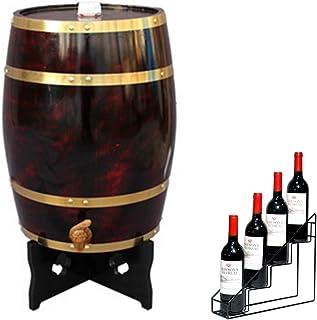 Fût Chêne Domestique Distributeur Vertical de Fûts de Whisky 10 Litres avec Baril de Vin, Adapté au Stockage du Vin, du Rh...