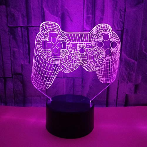 3d Slide Effect Phantom Light, Game Controller Shape Pattern, 7 Kinds Of Children's Decorative Lights, The Best Holiday Birthday Gift For Bedroom Children's Room Decoration, Smart Touch Buttons