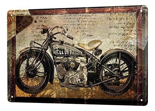 LEotiE SINCE 2004 Blechschild Dekoschild Küche Garage Nostalgie Schild Motorrad Bike 20X30 cm