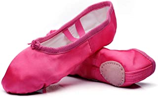 Girls Ballet Shoes Satin Performa Dance Slippers for Kids (Toddler/Little Kid/Big Kid)