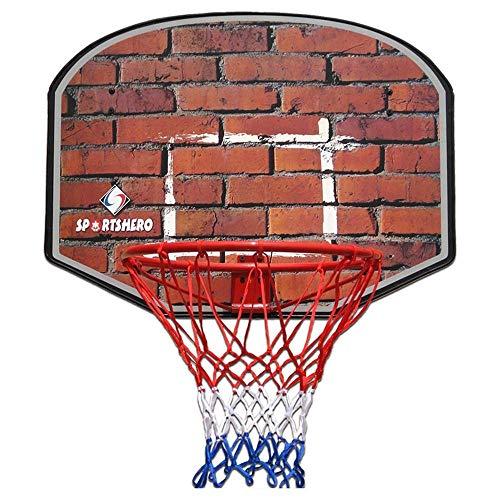 SUON-lanqiu Basketballbrett Basketballkorb Für Kinder Hölzern Basketball-Rückwand Hängend Innen- Kinderschießspielzeug Eisenfelgendurchmesser 45cm Basketballkorb (Color : D)