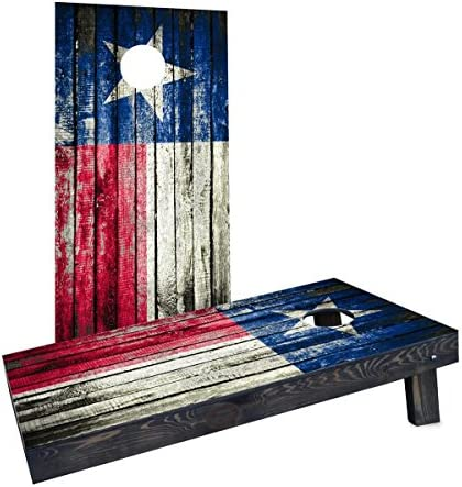 Custom Cornhole Boards CCB1529 C RH Wooden Distressed State Flag Texas Cornhole Boards product image