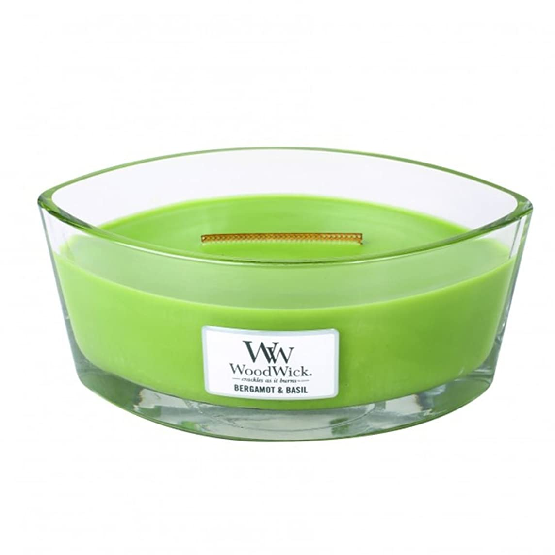 砲兵変なファイターベルガモットBasil Hearthwick Flame Large Scented Candle by WoodWick
