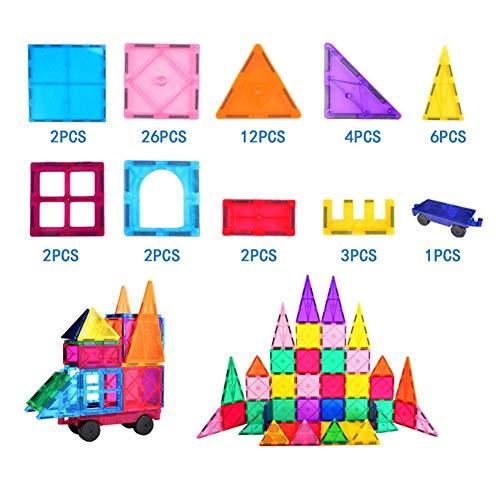 Magnetisches Baustein Spielzeug, Kinder Magnet Bauen Spielzeug Pädagogisches Magnetisches Bauteil Engineering Spielzeug für Kinder(Mehrfarbig)