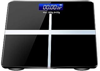 Báscula Digital para el Peso Corporal,báscula de baño de Alta precisión con batería y tecnología Step-On,Pantalla Grande,Medidas de Alta precisión 130 kg,Negro,Carga
