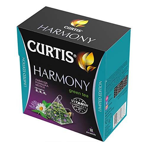 Curtis Harmony Green Tea with Lavender, Chamomile, Melisa 18 Tea Pyramids