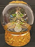 DUE ESSE SRL - Carillón de cristal (15 cm) con árbol de Navidad iluminado multicolor con juego de luces