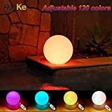 AosKe 9.5-Inch Floating  Waterproof LED Pool Light Orb Balls Glow Lighting Inodoor Outdoor Color Changing Led  Ball Lights Decor Party Light for Swimming Pool, Patio, Lawn, Hot Tubs, Garden Decoration