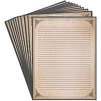 ヴィンテージひな形用紙–アンティークスタイル用紙–Perfect for writing poems、歌詞と文字 96 Pack クリーム
