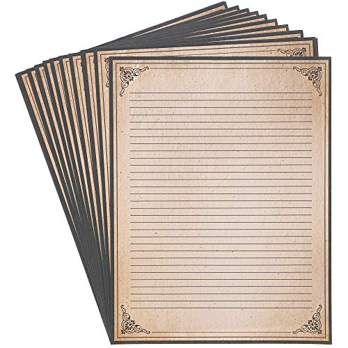 Vintage Writing Stationery Paper, Letter Size (8.5 x 11 In, 48 Sheets)