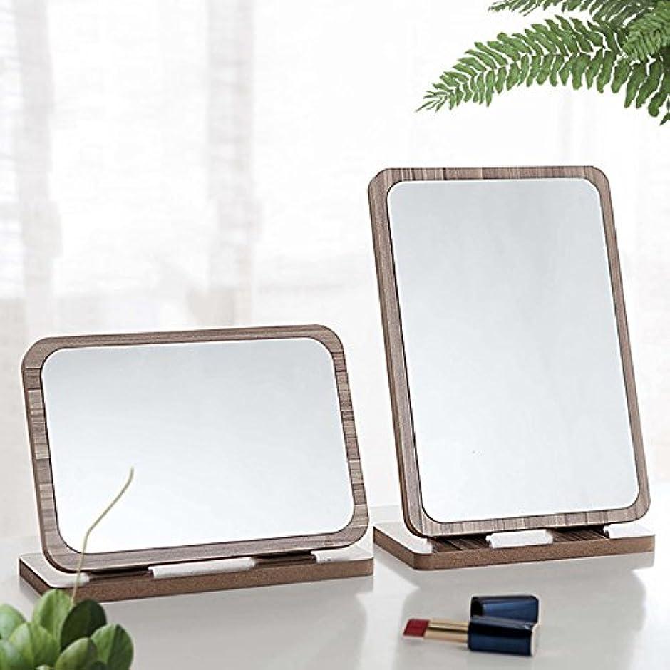 拍車虚偽篭YZUEYT デスクトップ木製の化粧鏡3倍拡大180度回転ポータブルバニティバスルームメイクツール YZUEYT (Color : NO. 10#)