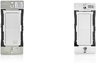 Leviton DH15S-1BZ 15A Decora Smart Switch for iOS and Leviton DD0SR-DLZ Dual Voltage 120/277VAC Decora Digital/Decora Smart Matching Switch Remote
