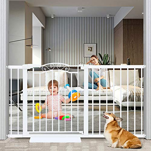 Fairy Baby Extra Wide Baby Gate for Kids Or Pets Walk Thru Dog Gates for The House Doorway Child...
