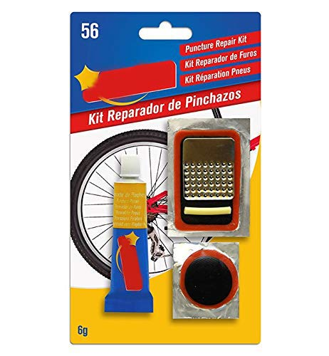 Pack 2 Kit repara pinchazos bicicleta. Repara +10 pinchazos. Apto para cualquier tipo de bicicleta. Muy simple y sencillo de aplicar.