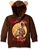 Curious George Little Boys' Toddler Character Hoodie, Brown, 3T
