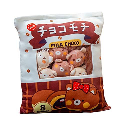 Jilijia Mini muñecas pudín juguetes de peluche extraíble mullido Kawaii felpa Snack almohada pudín animales decorativos cama sofá juguete creativo regalos adolescentes niñas niños