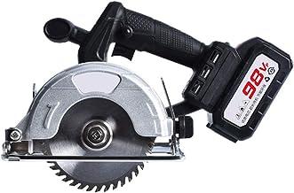 Sierra circular eléctrica 98VF, 6000mAh sierra circular Herramientas cortador de madera 45 ° Profundidad de bisel de 30 mm Cuttiing