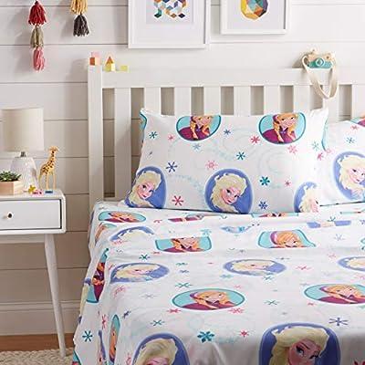 AmazonBasics by Disney Frozen Swirl Bed Sheet Set, Full