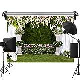 Kate 2.2x1.5m 結婚式 花 緑芝生 背景布 撮影用 背景布 背景幕 写真撮影 背景 装飾用 背景 布 カスタマイズ可能な背景