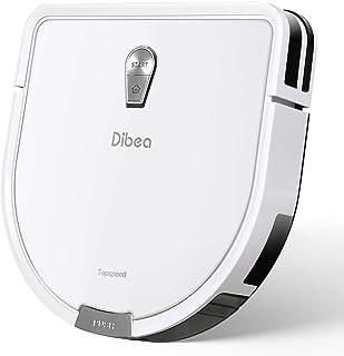 Dibea ロボット掃除機 D960 水拭き から拭き 強力吸引 自動充電 薄型 超静音 衝突&落下防止 床 カーペット 水洗いフィルター 150分間長時間稼動 PSE認証済み (ホワイト)
