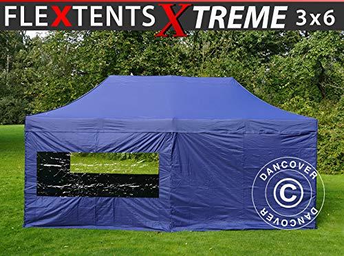 Dancover Vouwtent/Easy up tent FleXtents Xtreme 50 3x6m Donker blauw, inkl. 6 Zijwanden