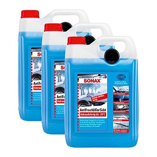 SONAX 3 x 03325000 Anti-gel & transparent prêt à l'emploi jusqu'à -20 °C antigel 5 l.
