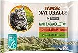 IAMS Naturally Collezione di terra e di mare per gatti anziani 4x85g