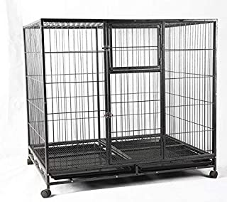 Foldable Metal Bird cage for Dog,and All Big Birds Without Wheel and Cups and Tray - Central Fish Aquarium L:125x B:94 x H...