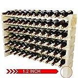 Greenvelly Stackable Wine Rack Freestanding Floor, 66 Bottle Wine Storage Racks and Shelving, Modular Wooden...