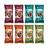 Clif Whole Lotta - Variety Pack - Organic Protein Bars, Fruit & Nut & Seed Bars - Gluten Free & Vegan Snacks (1.98 oz Protein Bars, 8 Count)