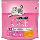 Purina One Junior de 1 à 12 mois - au Poulet et aux Céréales Complètes - 1,5 KG -...