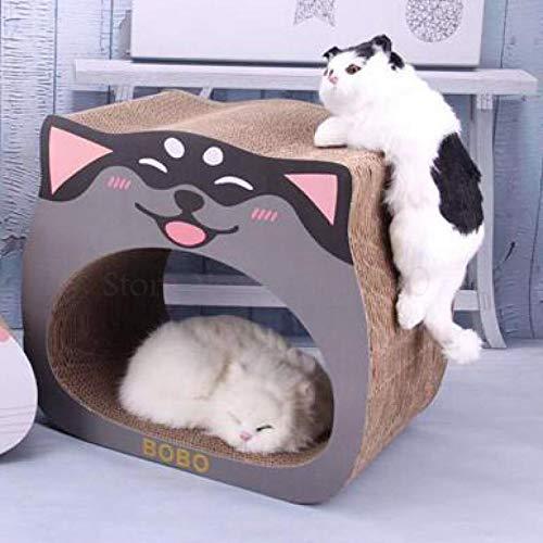 FSSQYLLX Rascador de Gato para Mascotas Tablero de Nido de Gato Corrugado Afilador de Garras Suministros Caja de sofá Resistente al Desgaste Juguete