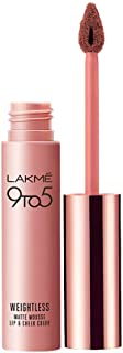 Lakme 9 to 5 Weightless Mousse Lip & Cheek Color, Coffee Lite, 9 gm