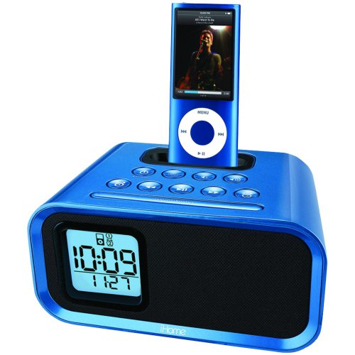 iHOME IH22LV Alarm Clock Speaker System with iPod Dock
