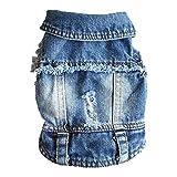 LDGS&TTW Ropa de Mascotas Pantalones Vaqueros Chaqueta Fresco Azul Denim Abrigo para pequeños Perros medianos Chalecos de...