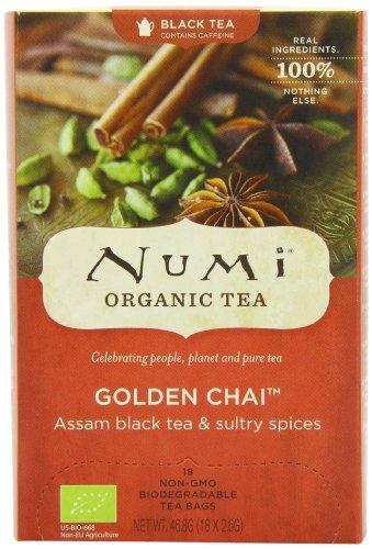 Numi Organic Golden Chai - Spiced Assam 18 Beutel, 3er Pack (3 x 47 g) - Bio