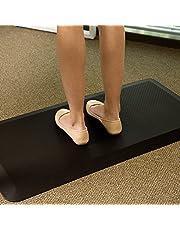 Flexispot DM1 Anti-vermoeidheidsmat, anti-vermoeidheidsmat, anti-vermoeidheidsmat, comfortabele mat, ergonomisch gevormd, voor kantoor, werkplekmat voor zit-sta-bureau, zwart