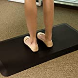 FlexiSpot Standing Desk Anti-Fatigue Mat Comfort Kitchen Floor Mat Flat Kitchen mats Black