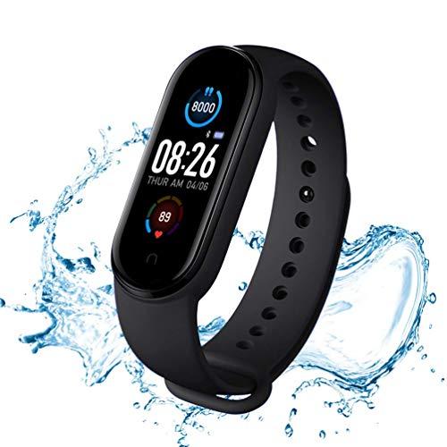 Rastreador de Actividad con Monitor de frecuencia Cardiaca, Resistente al Agua IP67, Monitor de sueño, Reloj Contador de calorías (Y1)