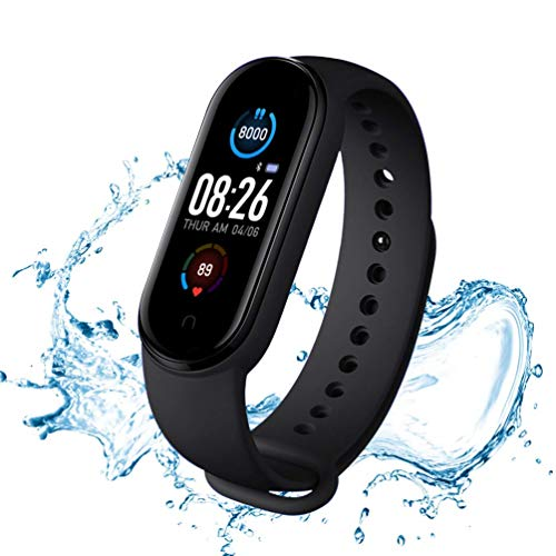 Fitness Trackers, Smart Fitness Bracelet Heart Rate Meter, Activity Trackers, Pedometer Walking Smart Watch Waterproof IP67 Smart Watch Woman Man Child Aged for Android iOS