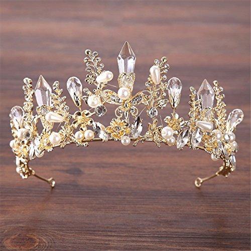 Joyas para pelo corona europea y americana Tiara Novia Cristal Corona Princesa Corona Dorado y plateado accesorios para el cabello de novia