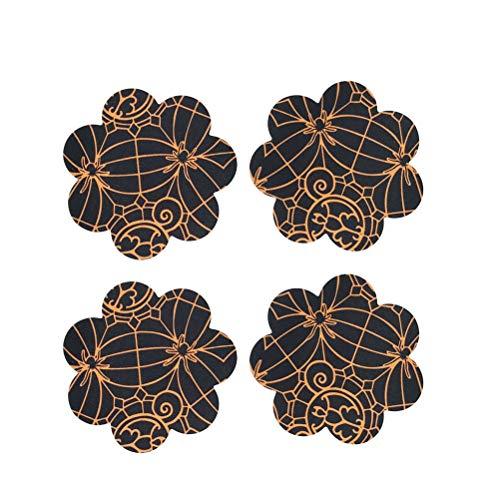 BESTOYARD BESTOYARD 10 Paar Damen Nippel Cover Blume Form Nippelabdeckung Spinnennetz Brust Nippel Aufkleber für Halloween Cosplay Kostüm Party (Freie Größe)