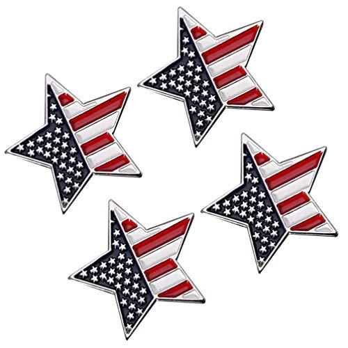 PRETYZOOM 4 Pins de Broche para Mujer I Voted Pin Bandera Americana Solapa Estrella Dorada USA Patriótico Navidad Suéter- Cinco Puntas Forma de Estrella Pin de Solapa Broches Decorativos